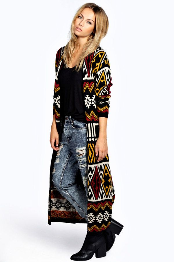 Nothing beats a FAB cardigan. Soooo many options. Mindy Maxi Aztec Cardigan is on sale now for - 25 % !
