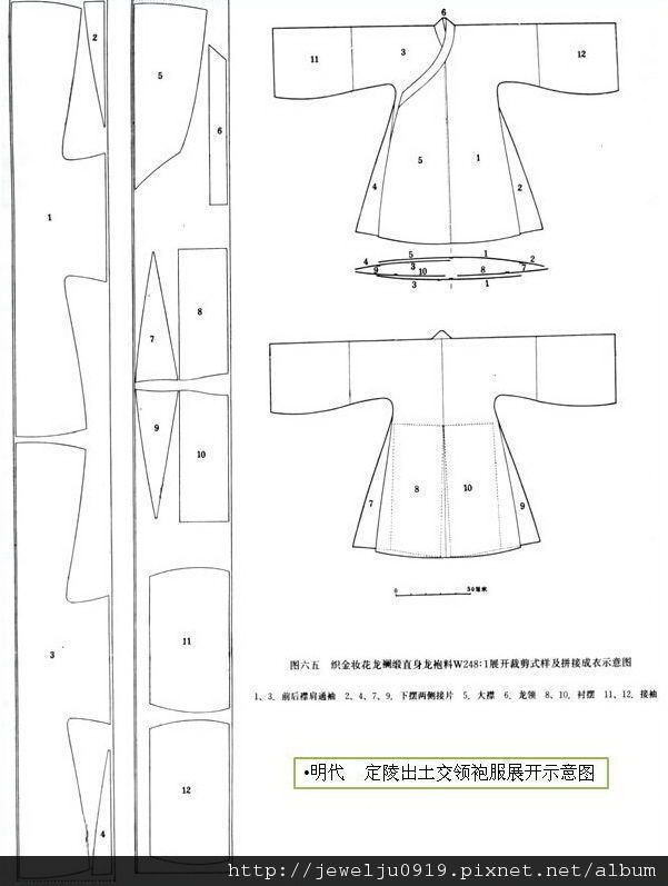 汉服裁剪图 - Google Search | Hanfu patterns | Pinterest | Pattern ...