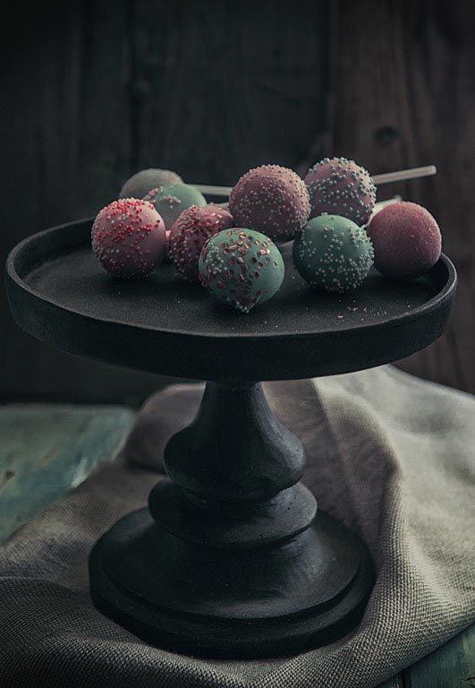 Colorful chocolate balls- dark food photography