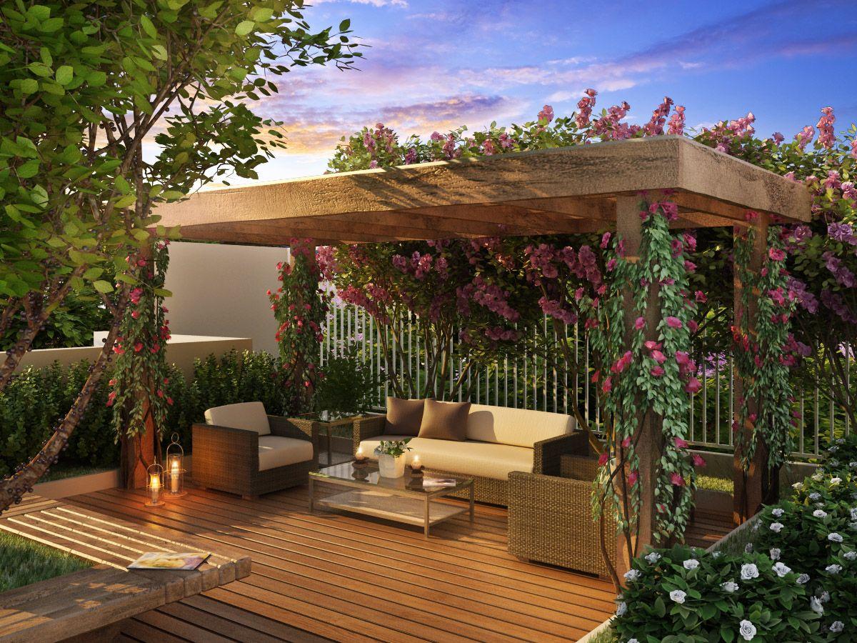 Pergolados | casas do meu jeitinho | Pinterest | Pergolas, Gardens ...