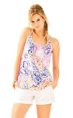 28ea662ab92bab Lacy Tank In So Snappy: $48 | New Arrivals | Lilly pulitzer, Tops ...