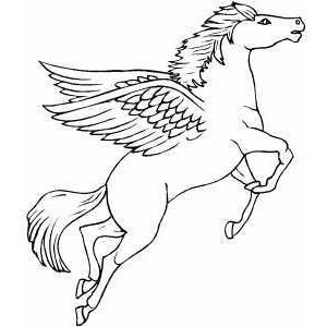 Flying Pegasus Coloring Page Polyvore coloring pages