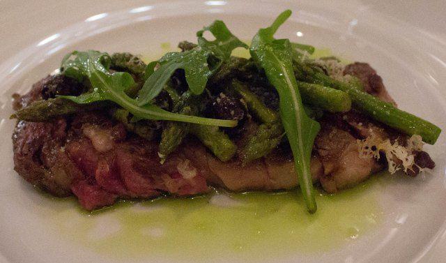 NY steak at Chef's Club in Aspen
