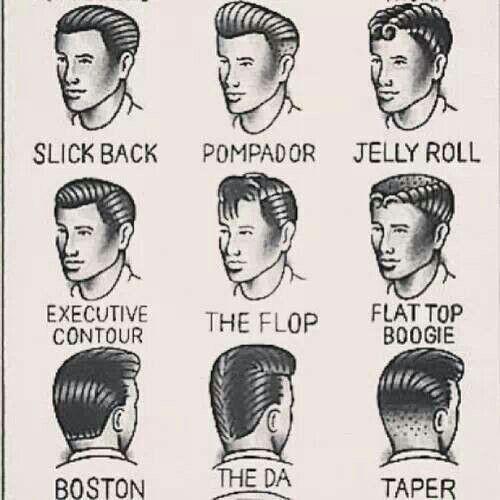 50s style hair men