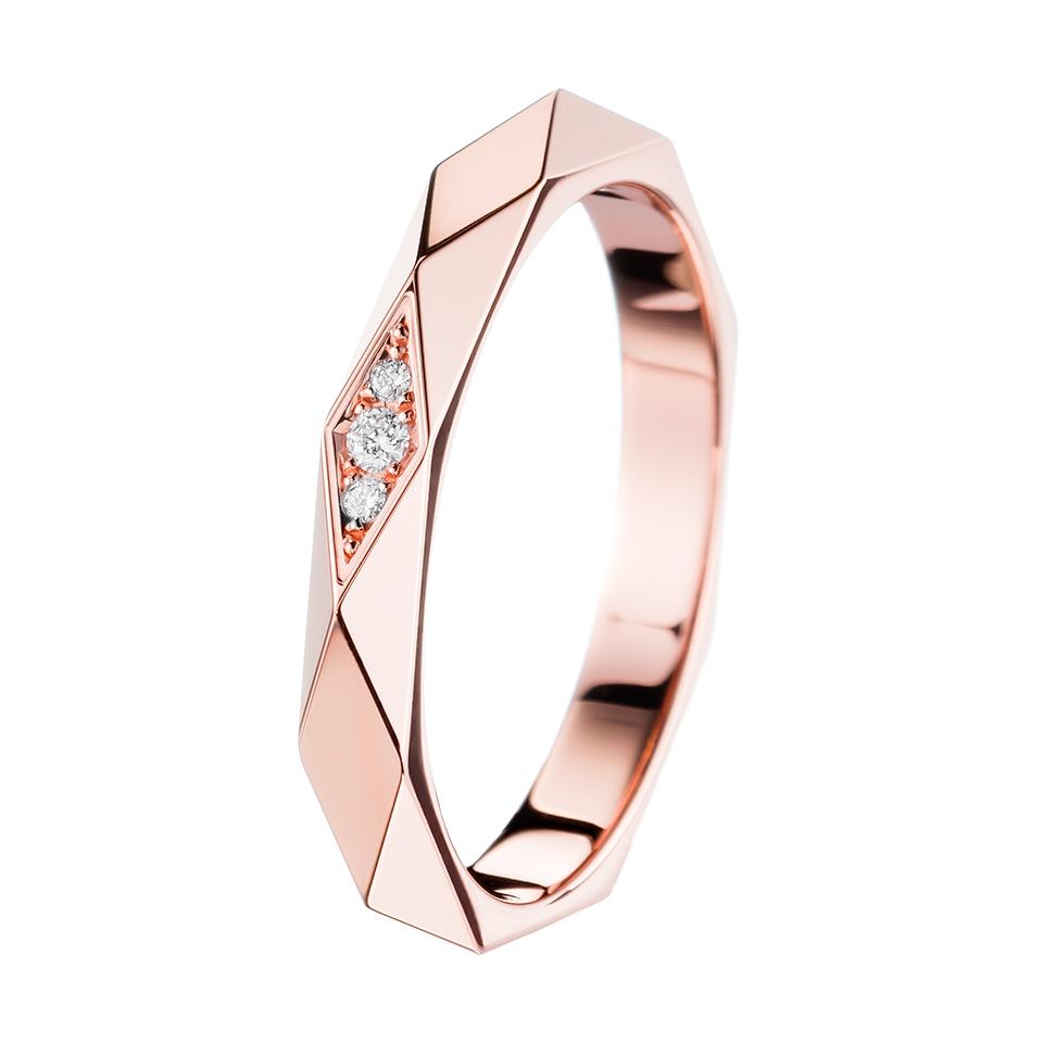 pink wedding rings Facette Pink Gold Wedding Band a Maison Boucheron Bridal creation A Boucheron creation tells