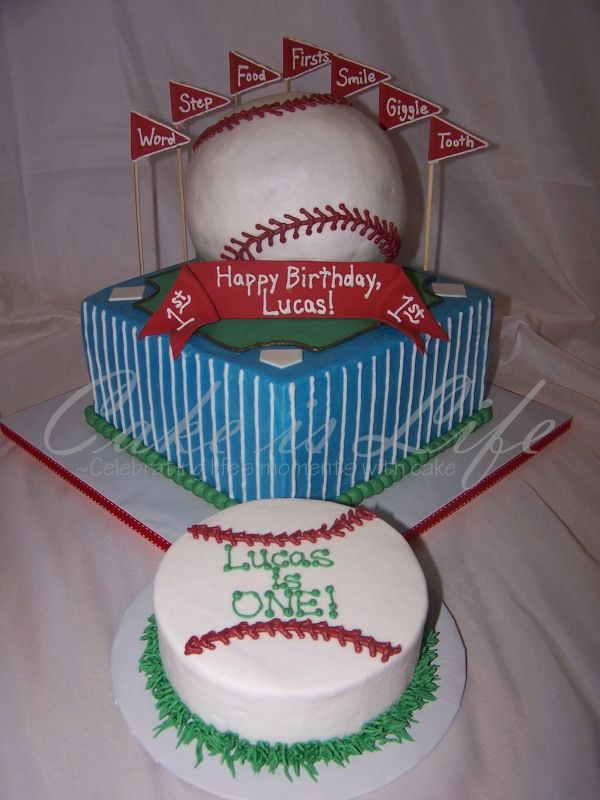 1st Birthday Baseball Cake Brodys 1st Bday Pinterest Birthdays