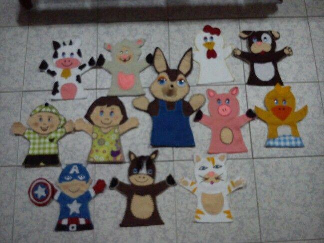 Personajes Teatro Guiñol Guiñoles Infantiles Mano Dedos
