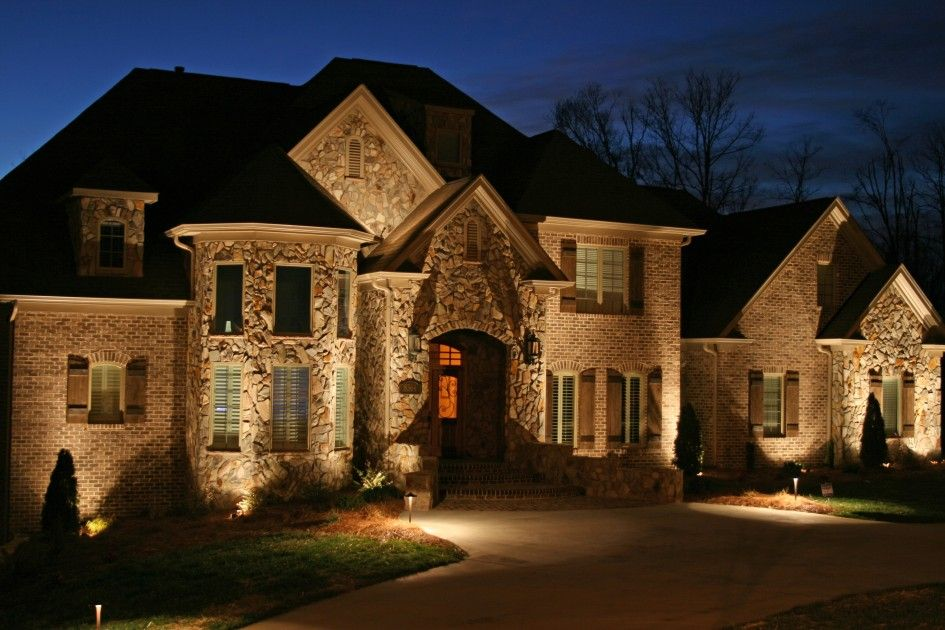 Decoration Licious Led Outdoor Lighting Design With Front Garden