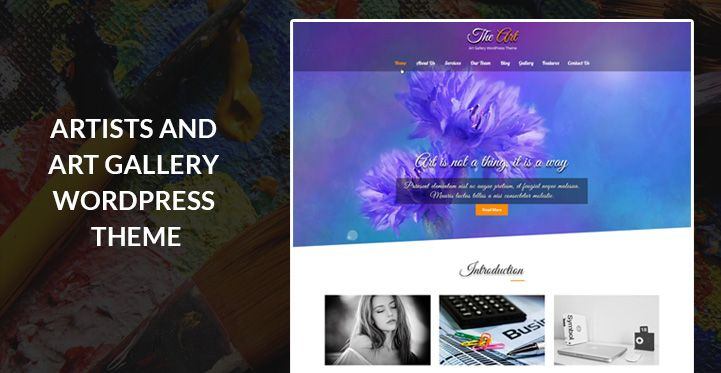 Best of the Art Gallery and Antiques WordPress themes for artist ...