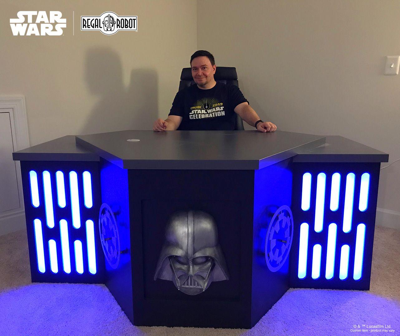 Custom Star Wars Imperial Themed Desk In 2020 Star Wars Furniture Art Decor Decor