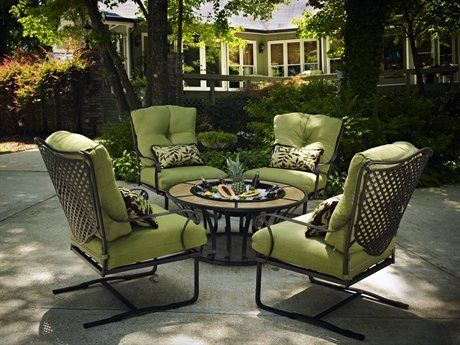 Meadowcraft Coventry Conversation Cushion Wrought Iron Lounge Set By