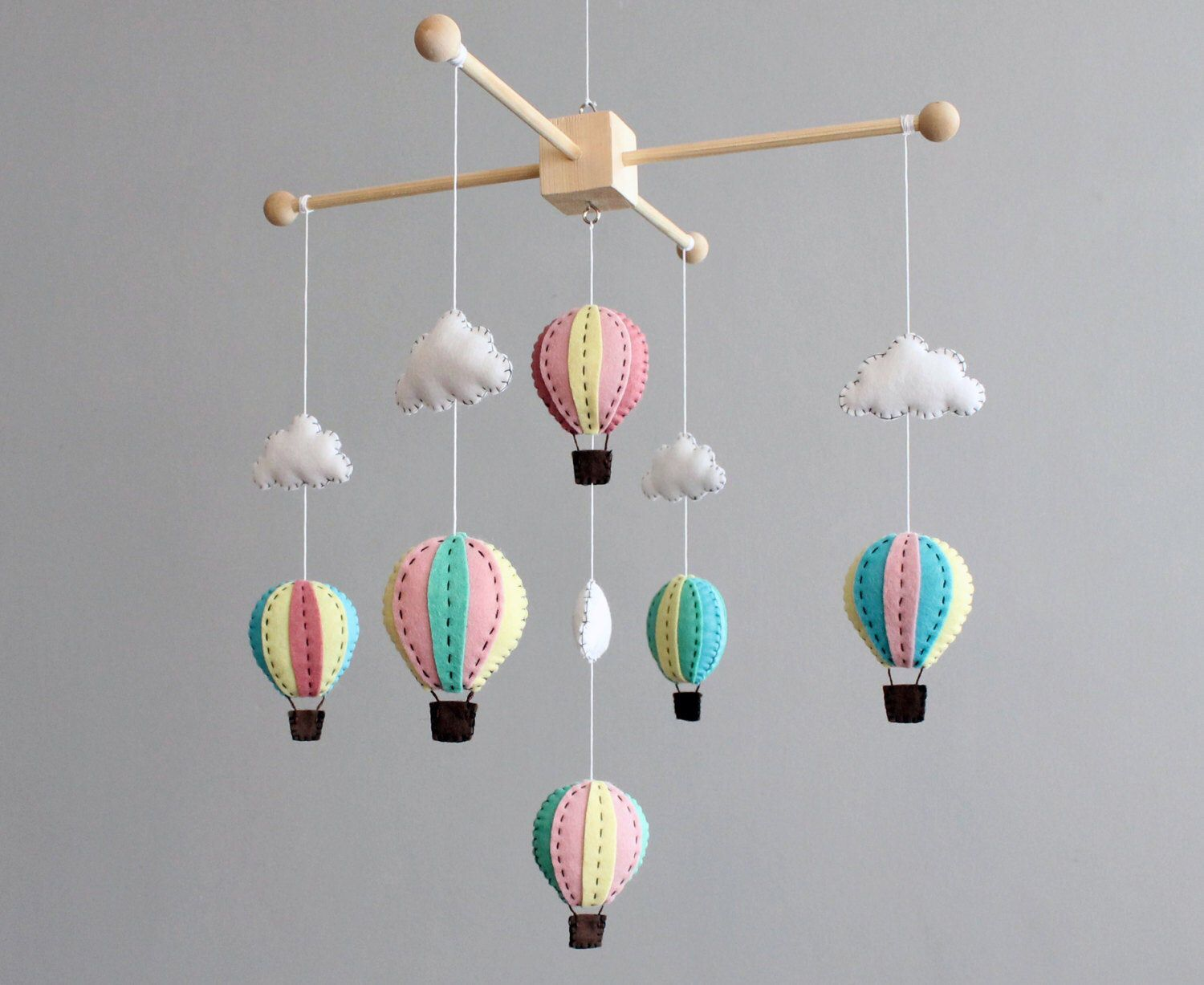 PATTERN how to make your own hot air balloon crib mobile