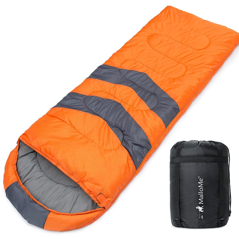 Mallome Single Camping Sleeping Bag  Season Warm Weather And Winter Lightweight Waterproof