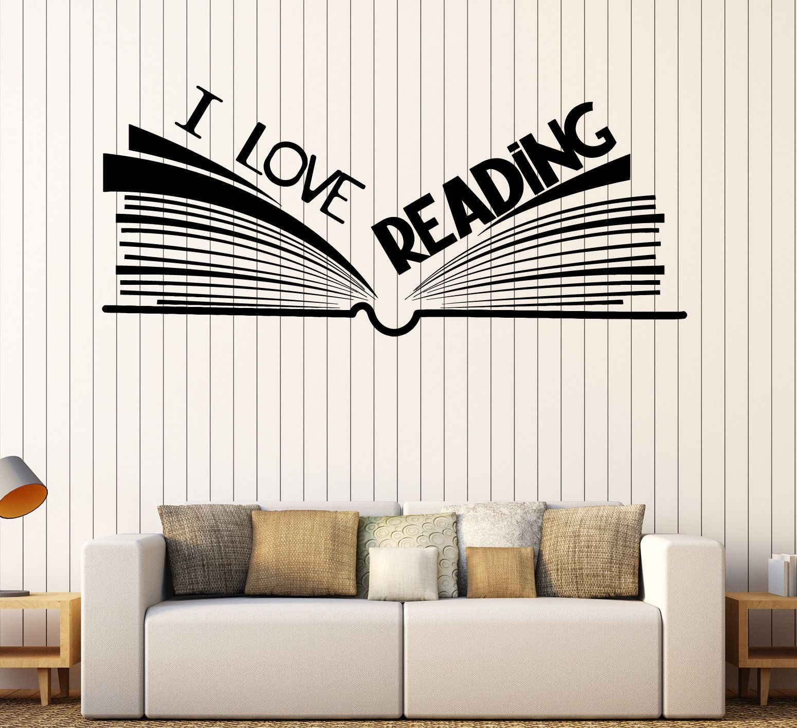 vinyl wall decal book bookshop library reading room on wall stickers id=90538