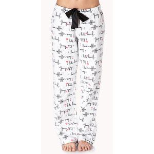 Forever 21 Women's Love Coffee/Hate Decaf PJ Pants - Polyvore