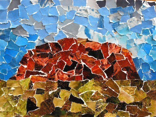 Colorful collages of the world 39 s natural wonders for Australian arts and crafts