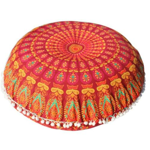 Details about Large Mandala Floor Pillows Round Bohemian Meditation Cushion Cover Ottoman Pouf