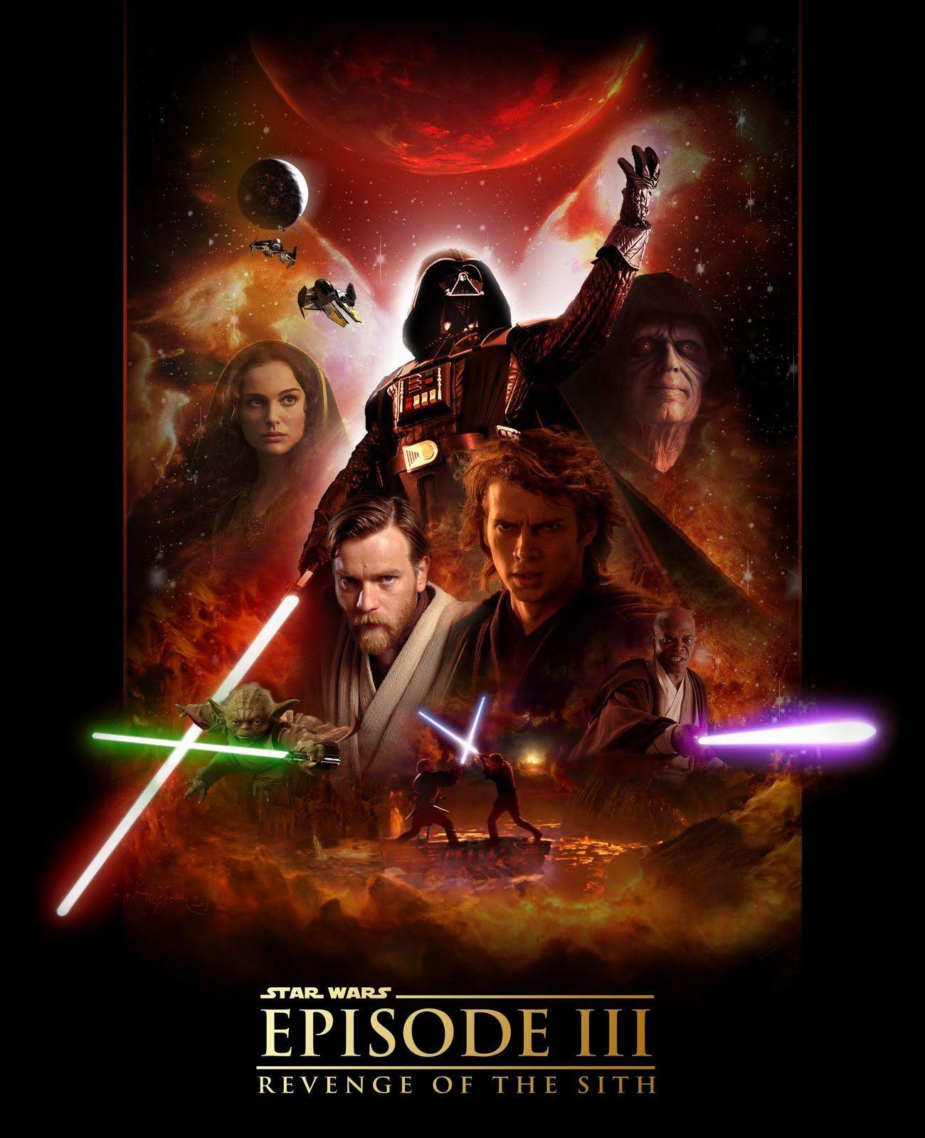 Star Wars Episode Iii Revenge Of The Sith 2005 Star Wars Movies Posters Star Wars Episodes Star Wars Film