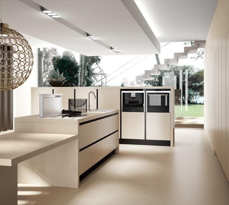 73 idées de cuisine moderne avec îlot, bar ou table à manger Cozinha