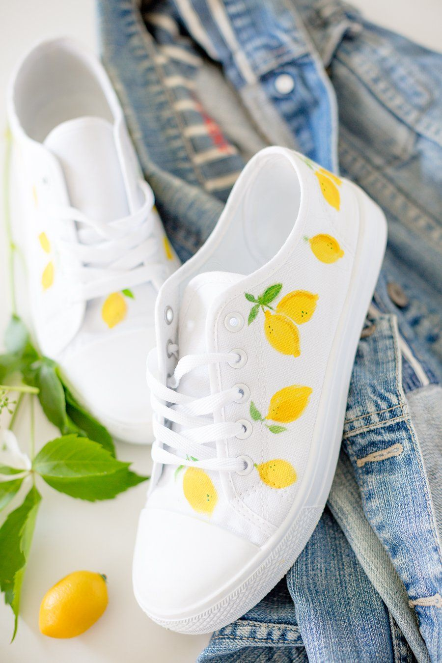 4be377e96 DIY Lemon Print Shoes how to | Summer Fun in 2019 | Shoe makeover ...