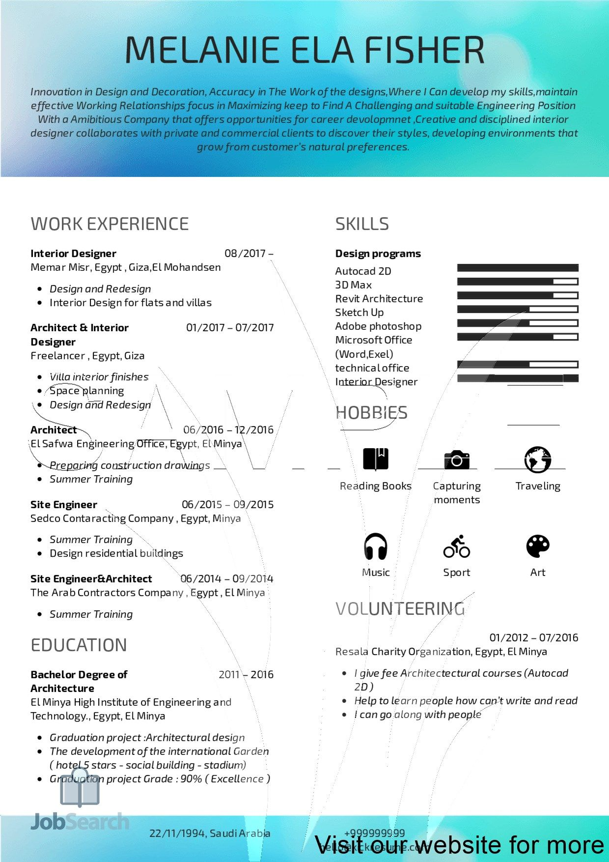 resume template free layout in 2020 Resume design
