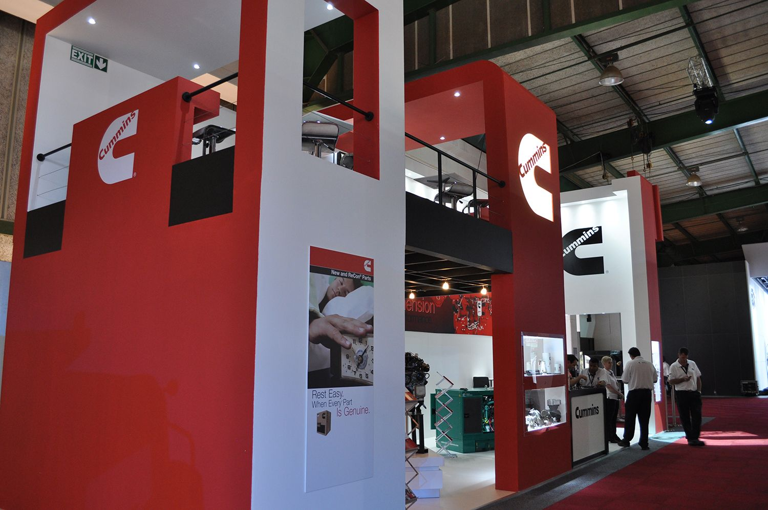 Expo Exhibition Stands Johannesburg : Indoor stand for cummins sa at johannesburg international
