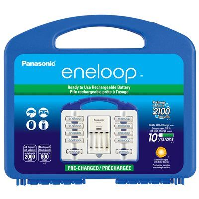 Lowes Canada 29 99 Or 26 Off Eneloop Battery Charger 8aa 4aaa Rechargeable Batteries Panasonic Aaa Battery Charger