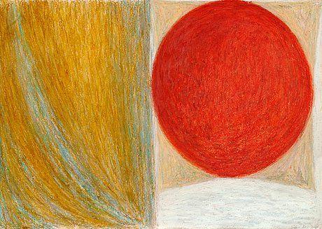 Silja Rantanen: Sommitelma, 1988, pastelli, 60 x 86 cm. Bukowskis.