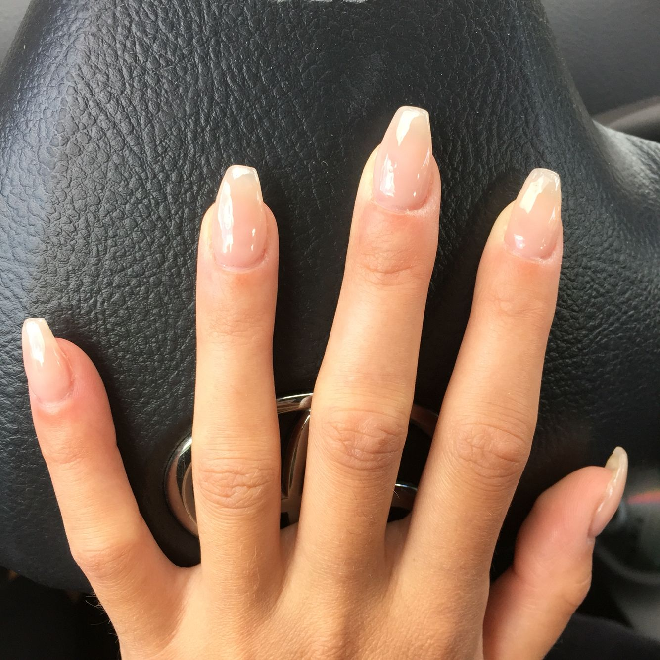 Ultra Clear Coffin Nails Natural Acrylic Nails Classy Acrylic Nails Clear Gel Nails