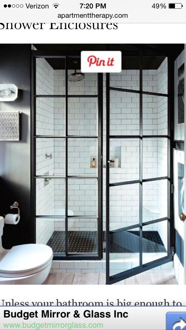 Bathroom | Bathrooms | Pinterest | Shower doors, House and Industrial