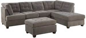 84 inch Reversible Gray Sectional Sofa Set with discount 36 percent ...