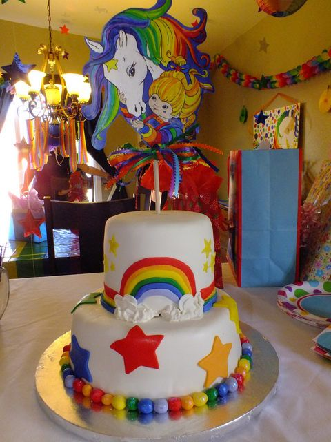 Astonishing Rainbow Brite Cake I Wish I Had This Cake When I Was A Kid Birthday Cards Printable Nowaargucafe Filternl