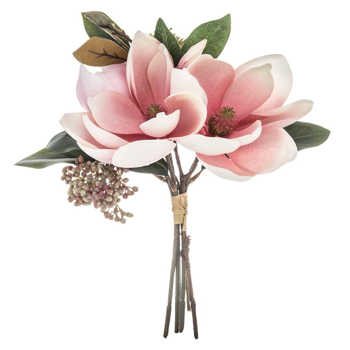 Magnolia Bouquet Pink Magnolia Bouquet Flowers Online Artificial Plants Flowers