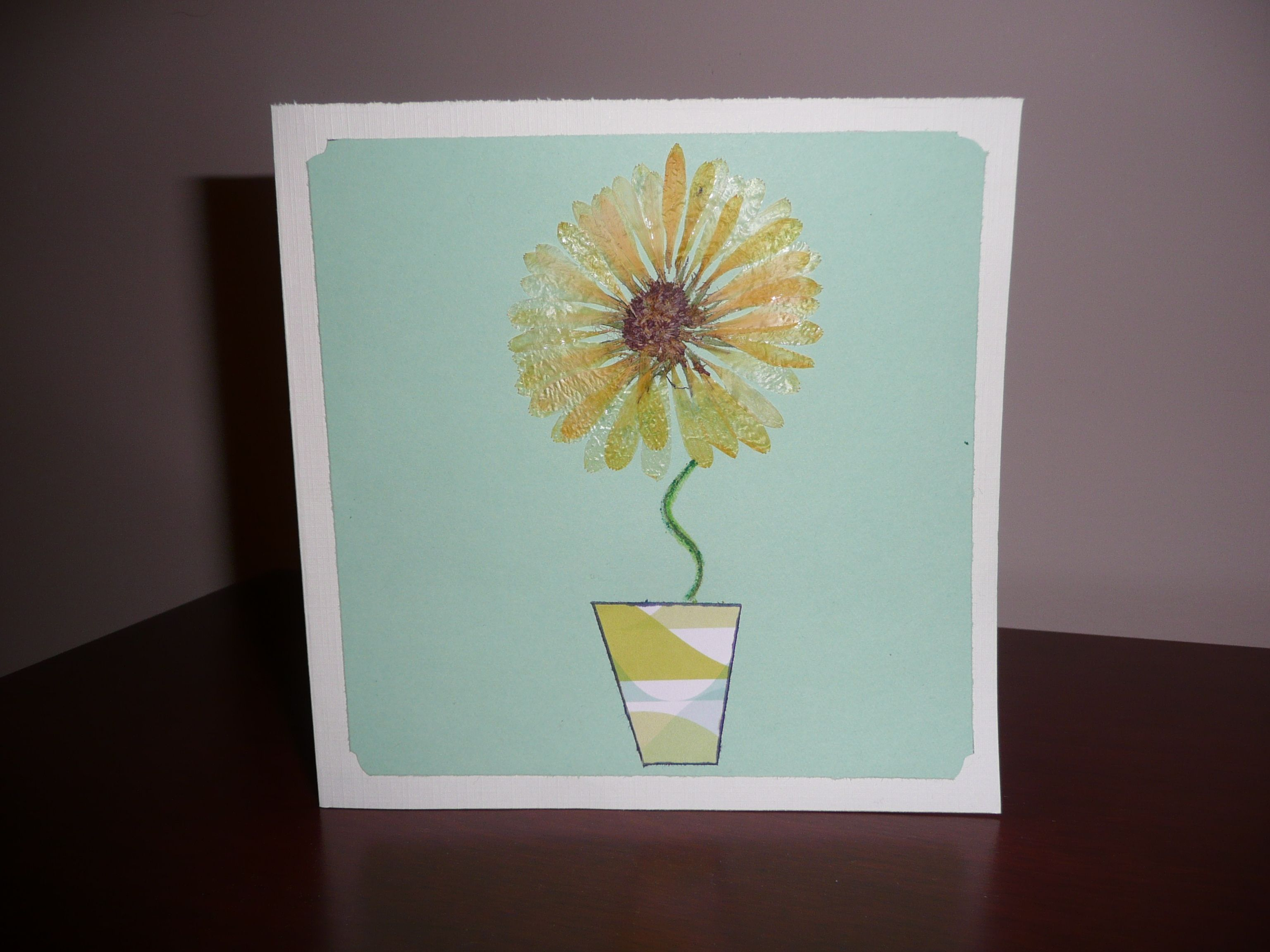 A handmade dried flower greeting card have a dried flower heres a handmade dried flower greeting card have a dried flower heres a pressed flower kristyandbryce Gallery
