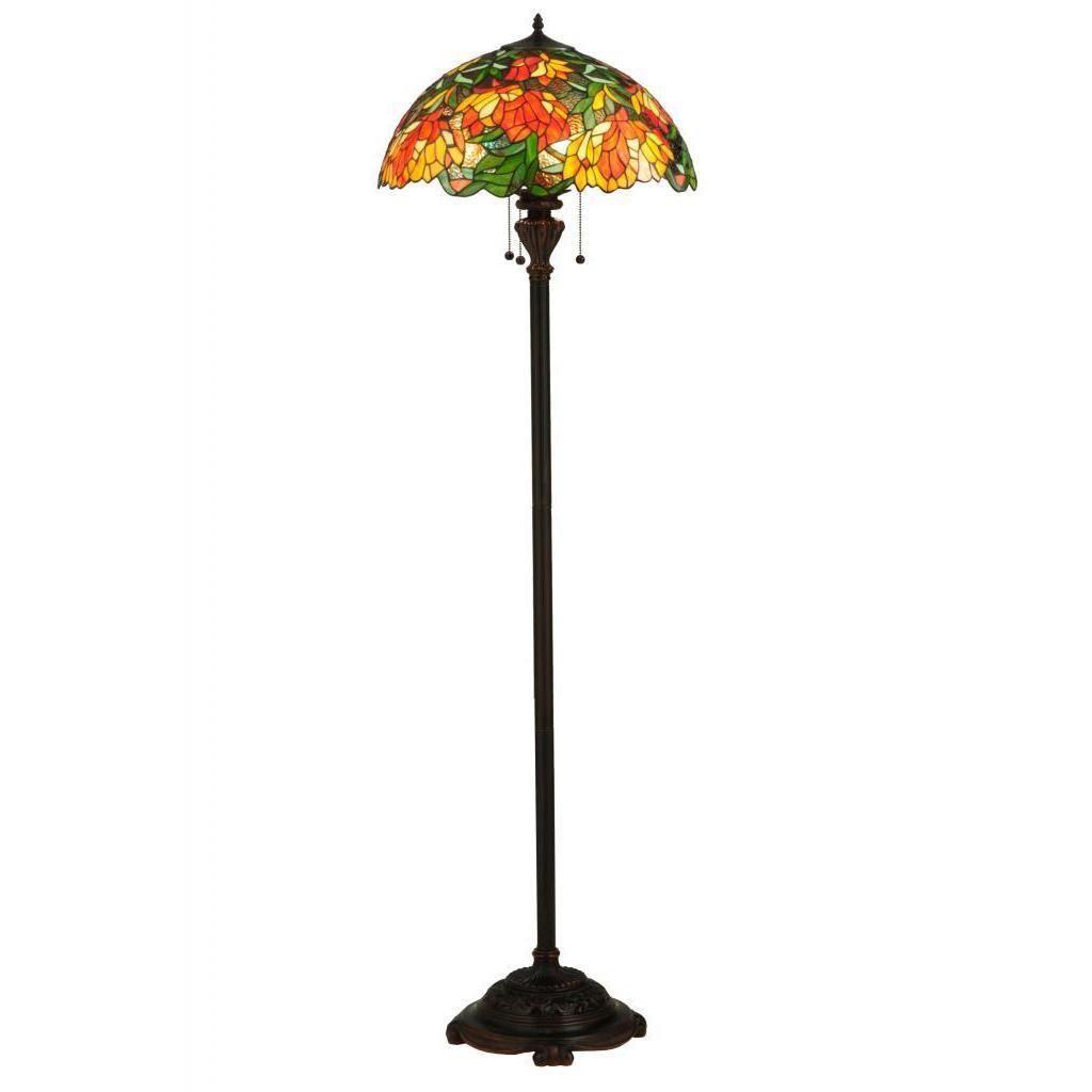 Meyda 66 Inch Lamella Floor Lamp, Multi (Glass)