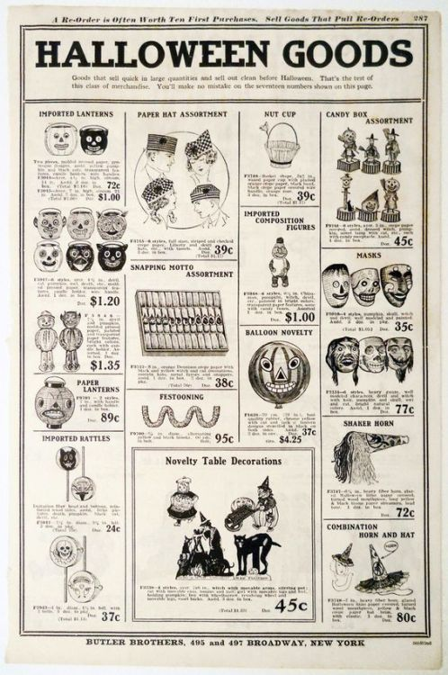 autumnsredglaze Vintage Halloween 1929 Original Catalog Page - halloween catalog