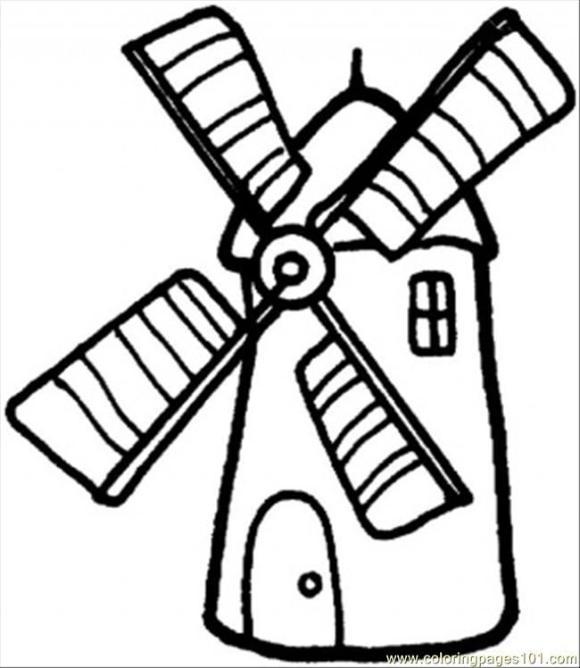 Windmill Coloring Pages Printable Windmill Art Coloring Pages