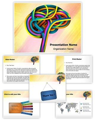 Neurology Science Powerpoint Template is one of the best - Science Powerpoint Template