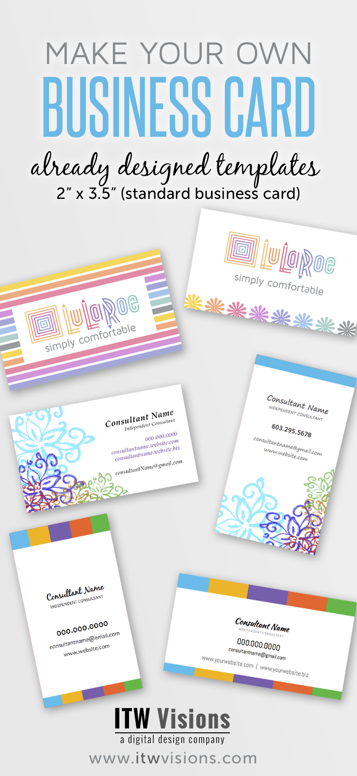 Make Your Own Business Cards Already Designed Templates For Lularoe Fashion Lularoe Business Cards Free Business Card Templates Lularoe Business