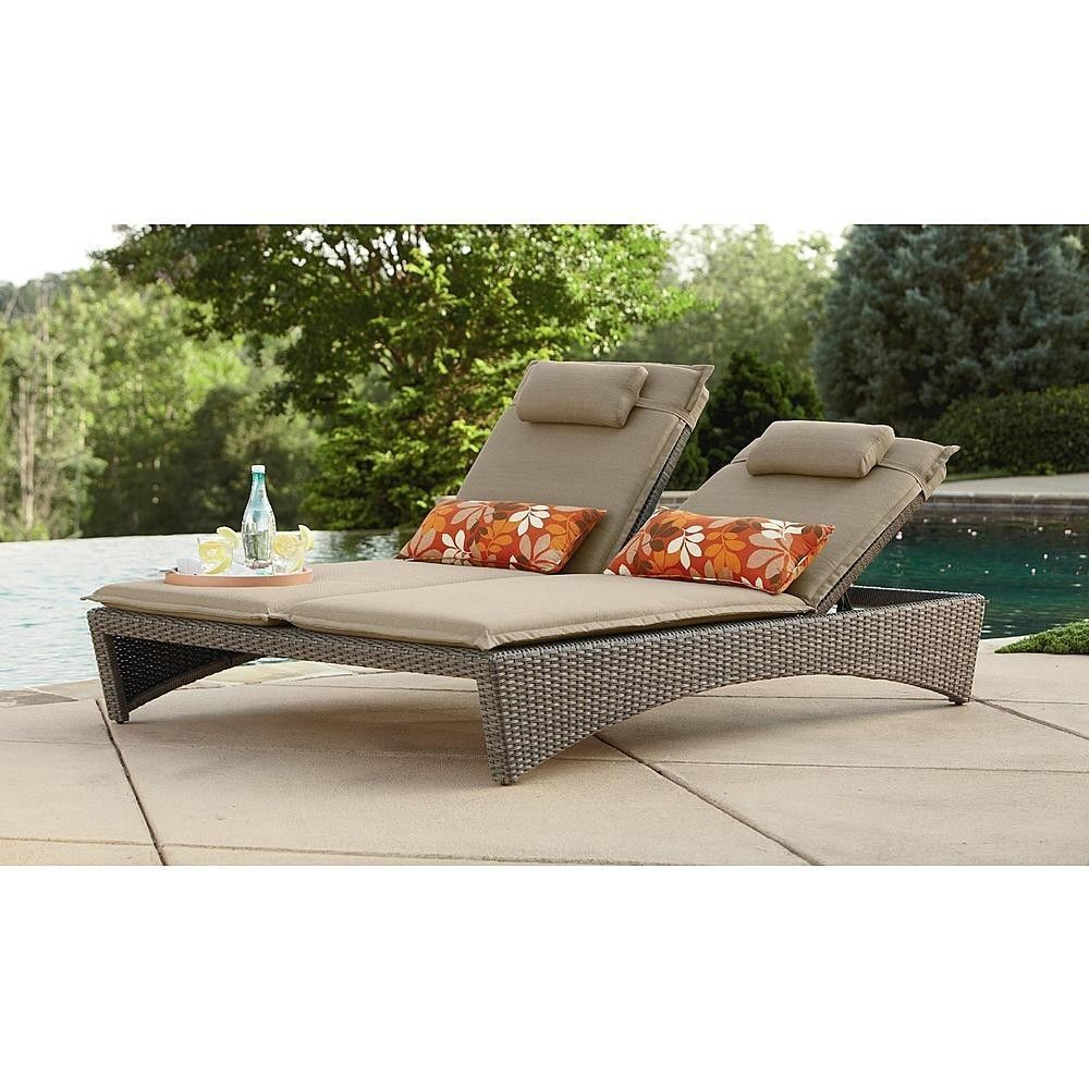 Double Chaise Outdoor Lounge Recliner Chair Day Bed Patio Pool
