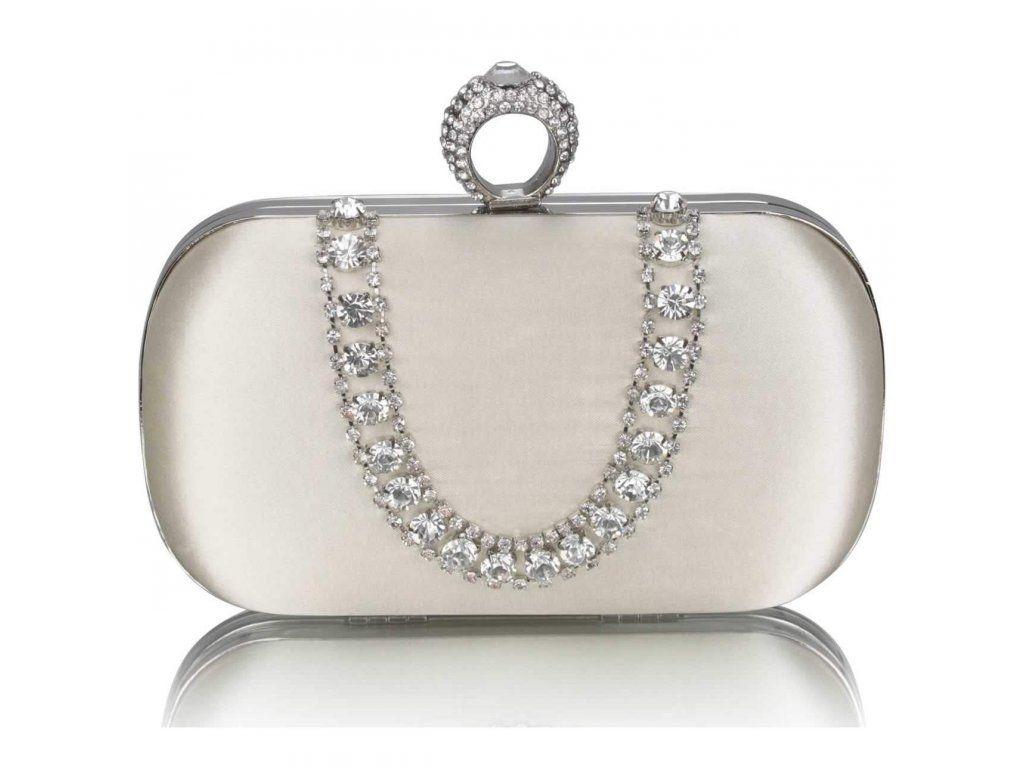 2f6ad43897bf2 Večerná strieborná kabelka LSE00225 clutch | Spoločenské kabelky ...