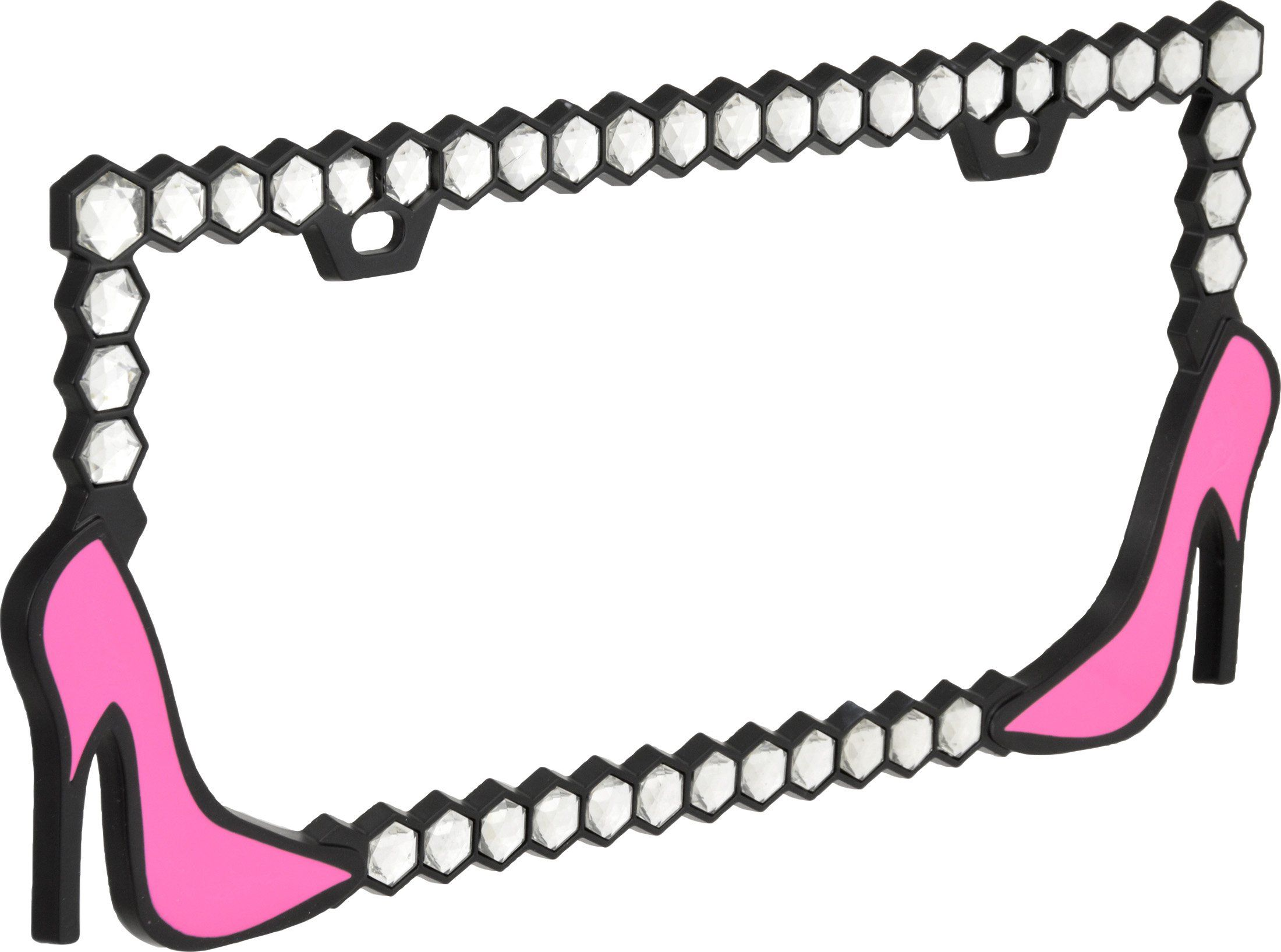 Bell automotive hot pink high heels license plate frame