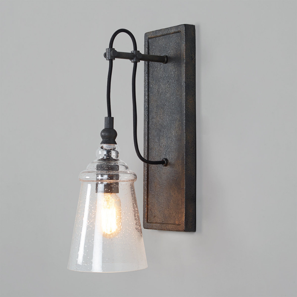 Historic Industrial Seeded Sconce With Images Industrial Wall Lights Rustic Wall Lighting Rustic Wall Sconces