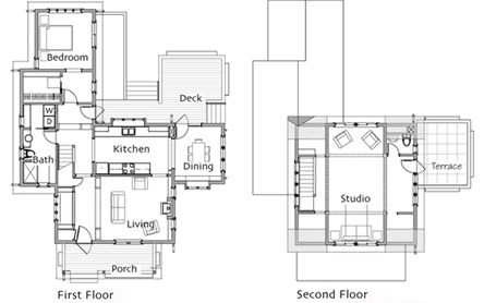 Small Homes by Ross Chapin Architects    I love the studio upstairs for a creative space!