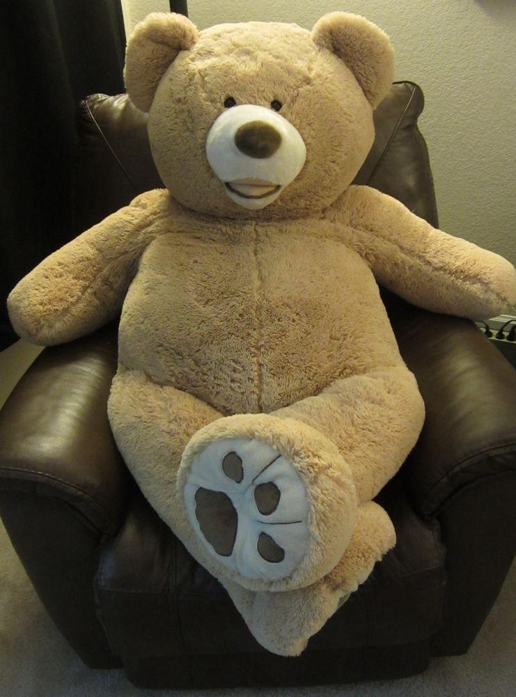 """Hugfun Stuffed Animals: Giant Hugfun Plush Teddy Bear 53"""" Light Brown Tan Life"""