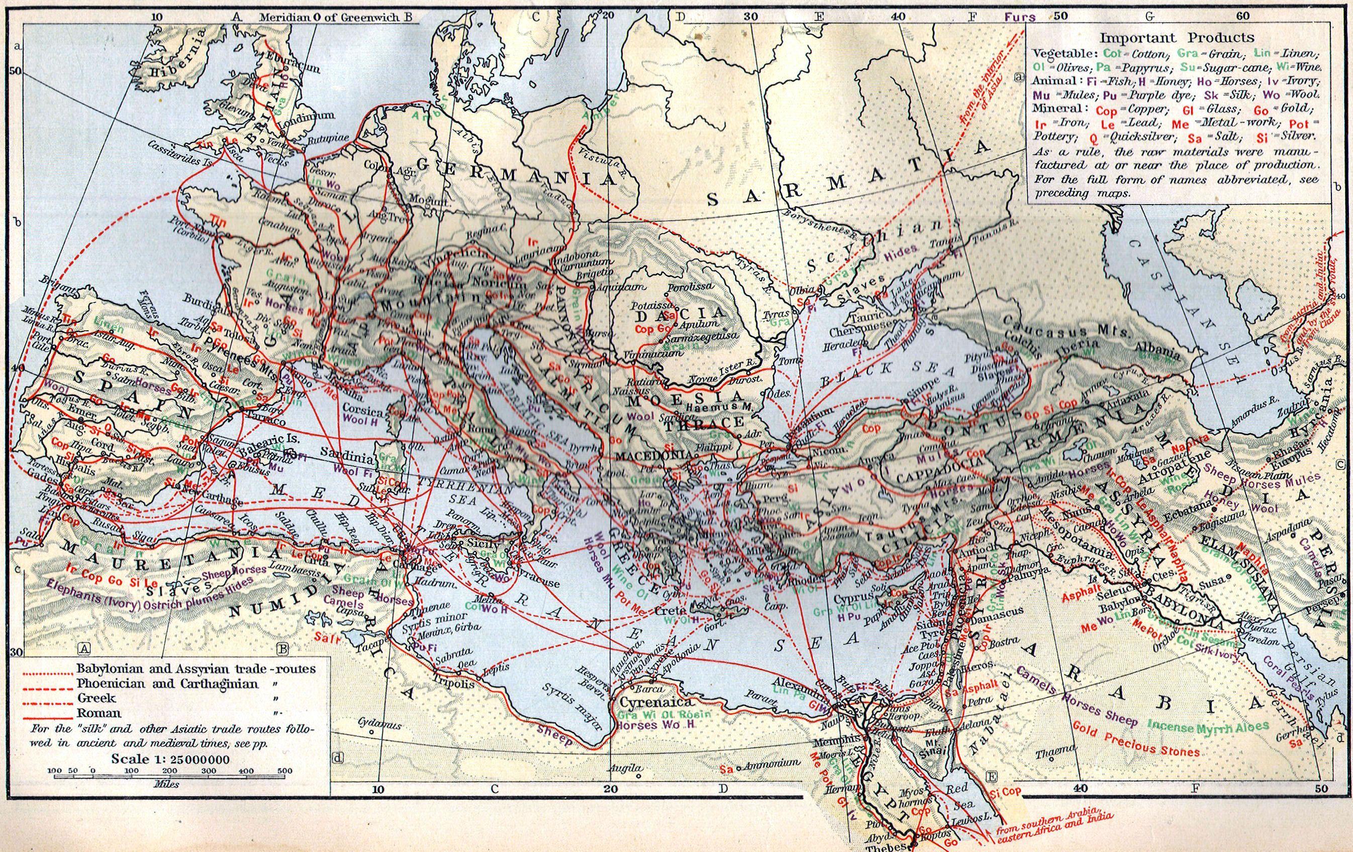 Economic Map Of The Ancient World Palestine History Historical Maps Economic Map
