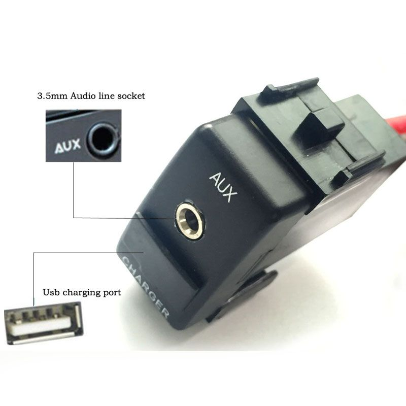 Car Aux Switch Charge Port Usb For Nissan Qashqai Juke X Trail