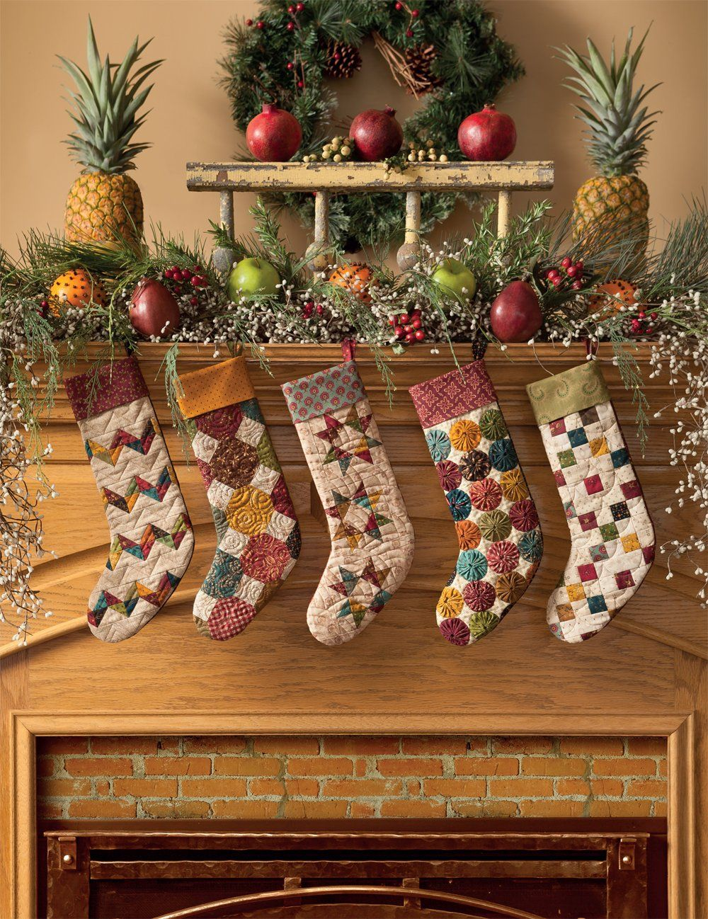 Simple christmas tidings scrappy quilts and projects for yuletide scrap basket stockings simple christmas tidings martingales scrappy quilts and projects for yuletide style by kim diehl solutioingenieria Images