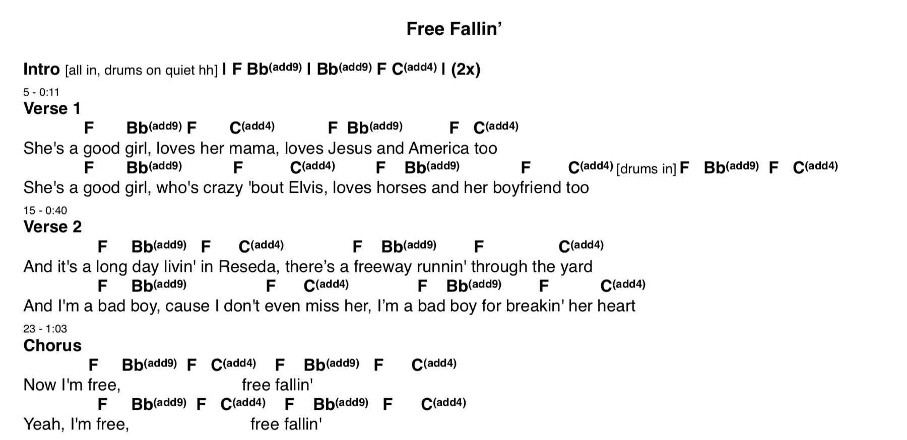 Free Fallin Chords Guitar Lessons Guitar Songs John Mayer Guitar