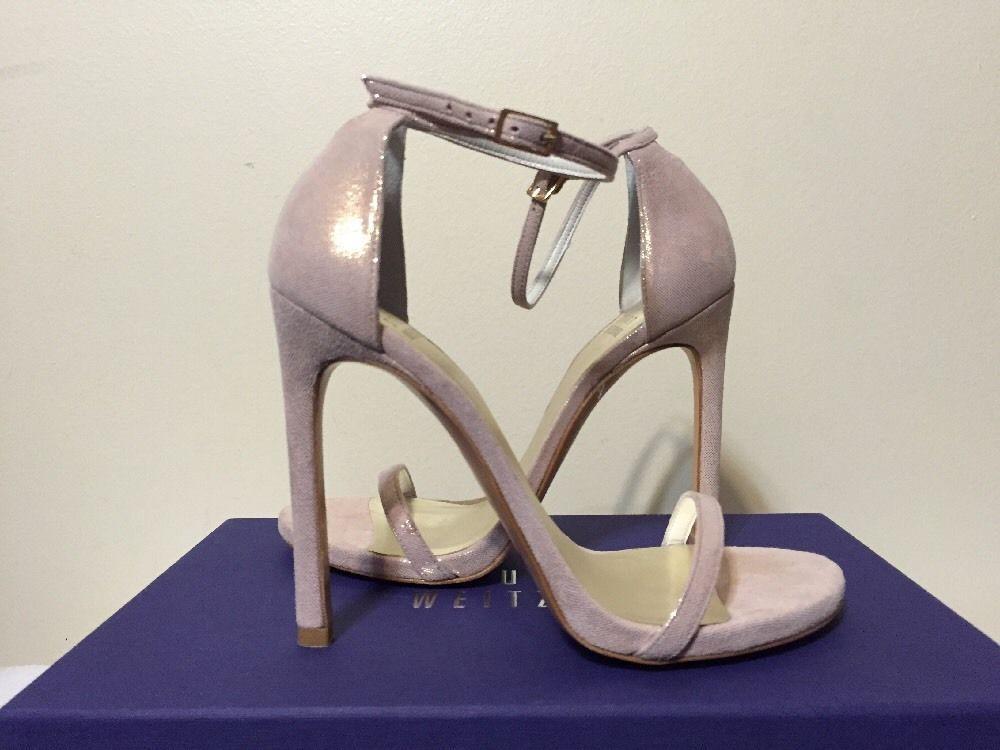 Stuart Weitzman Nudist Adobe Flesh Cipria Women's Fashion Heels Sandals Size 6 M #StuartWeitzman #FashionHeelsSandalsAnkleStrap